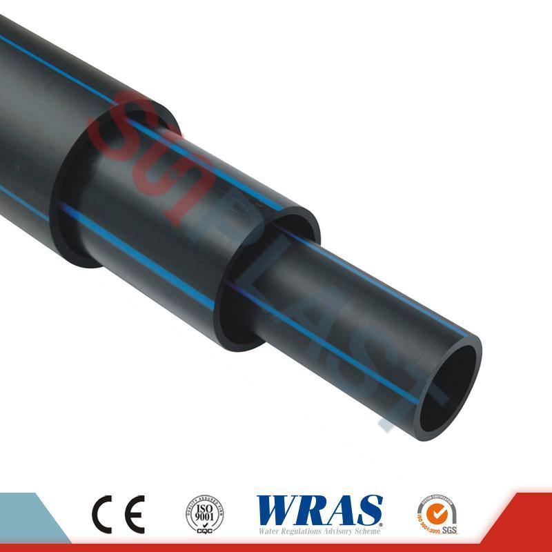 HDPE cevi (poli cevi) v črni / modri barvi za oskrbo z vodo