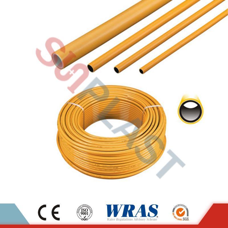 Rumene barve PE-AL-PE večplastne cevi za plin