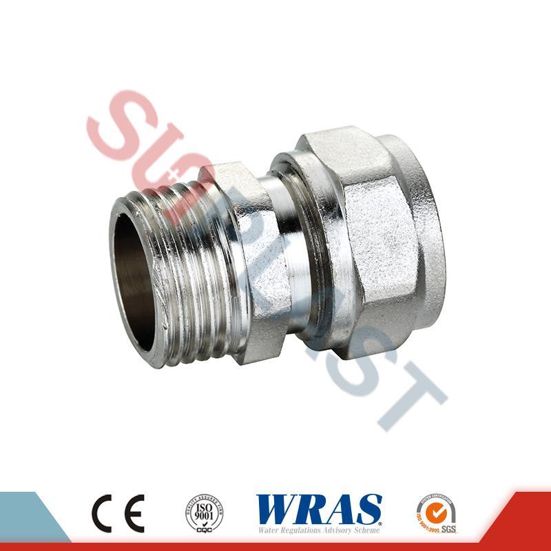 Kompresorska spojka za moške za večplastno cev PEX-AL-PEX