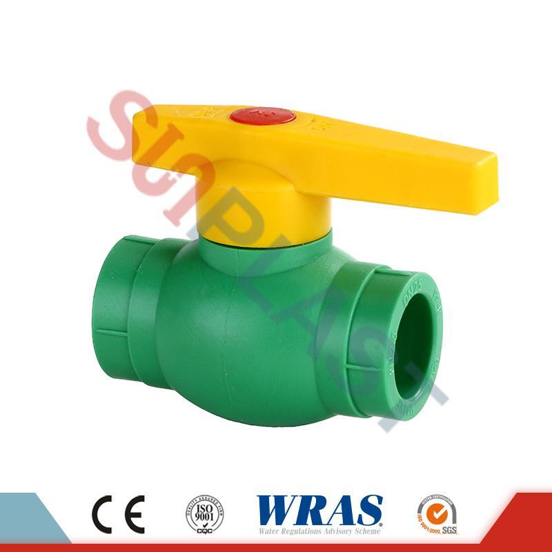 DIN8077 PPR krogelni ventil